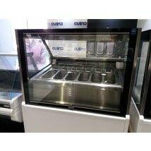 Lenari Limosa 12 tégelyes fagylaltpult - bemutatótermi komplett (fehér MDF elő- és oldallapokkal)
