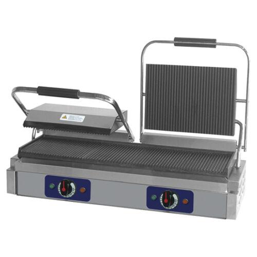 Virtus - kontakt grill öntöttvas lemezekkel, alsó rács 475x230 mm