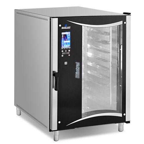 Bake Off - Mistral T10 Vision - 10 tálcás pékipari légkeveréses sütő, 400x600 tálcaméret, érintőkijelző, mosórendszer