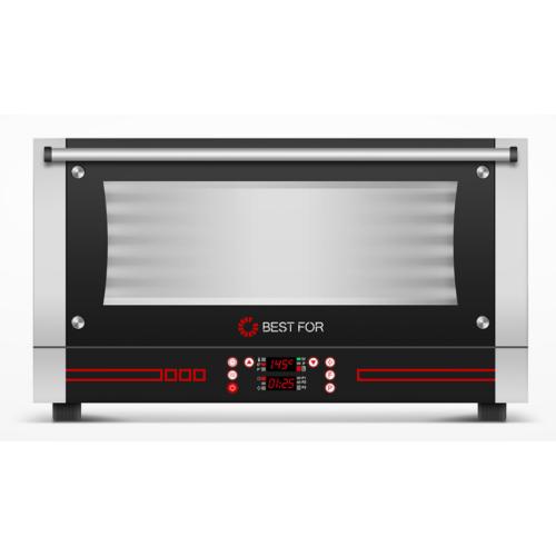 BestFor Bistro Snack 364 - 3 tálcás hőlégkeveréses sütő párásítóval, digitális kijelzővel, 400x600 tálcaméret