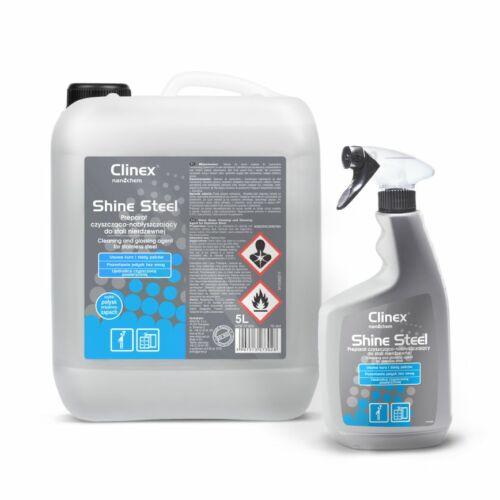 CLINEX Shine Steel rozsdamentes fémfelület tisztító és ápolószer 650 ml (12 flak./#)