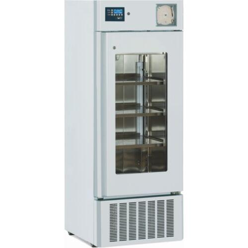 Laboratóriumi hűtőberendezés 200 literes +2° +10°C üveg ajtós