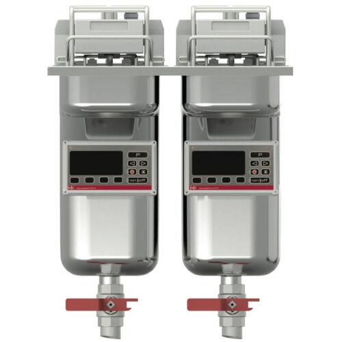 FriFri Basic+ 422 beépíthető olajsütő, 2 kosaras, 2 medencés, 2*7,5-9 liter