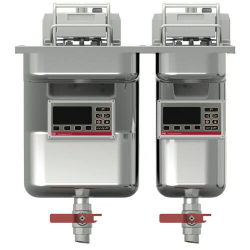 FriFri Basic+ 522 beépíthető olajsütő, 2 kosaras, 2 medencés, 25-29 liter