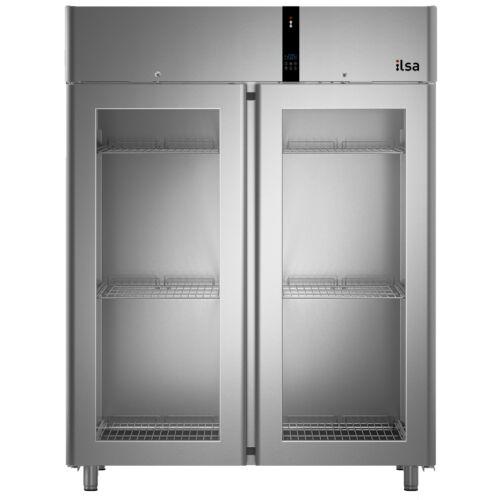 Ilsa Evolve üvegajtós hűtőszekrény GN 2/1 1400L 0° +10°C