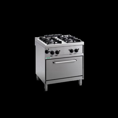 Giga 4 égős gáztűzhely és gűzüzemű sütő