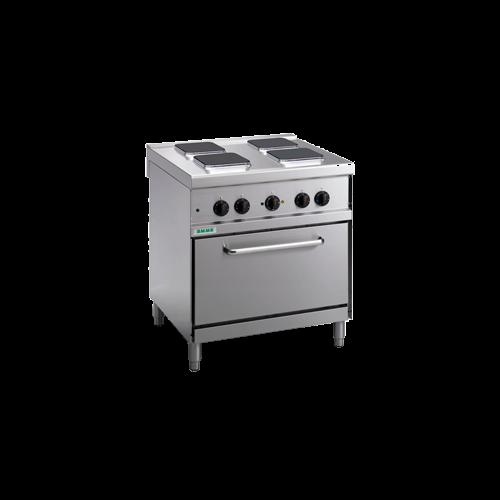 Giga elektromos tűzhely 4 főzőlappal és elektromos légkeveréses sütő
