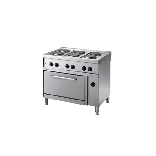 Giga elektromos tűzhely 6 főzőlappal és elektromos légkeveréses sütő
