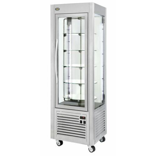 Roller Grill RDN 60 T álló fagyasztós (negatív) forgótányéros hűtővitrin -5/-20°C, 5 üvegpolccal