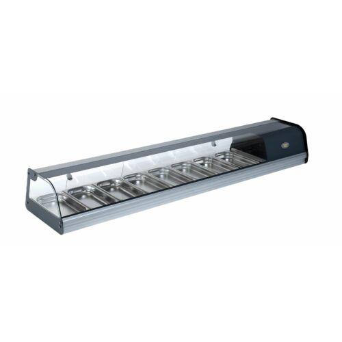 Roller Grill TPR 80 asztali statikus tapas, sushi hűtővitrin +1/+5°C 8xGN1/3