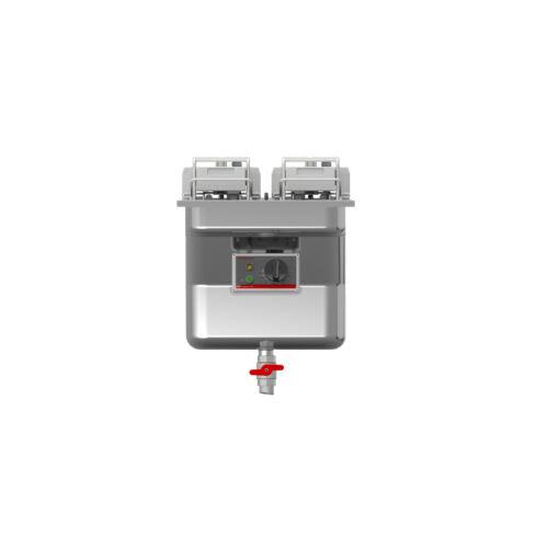 FriFri Super Easy 411 beépíthető olajsütő, 2 kosaras, 1 medencés, 17-20,5 liter