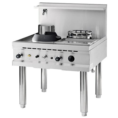 Virtus gázüzemű 2 égős wok sütő