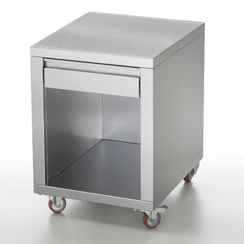 Virtus rozsdamentes fiókos szekrény, pizzatészta-nyomó gép kiegészítő