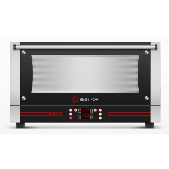 BestFor Bistro Snack 364 3 tálcás hőlégkeveréses sütő párásítóval, digitális kijelzővel, 400x600 tálcaméret