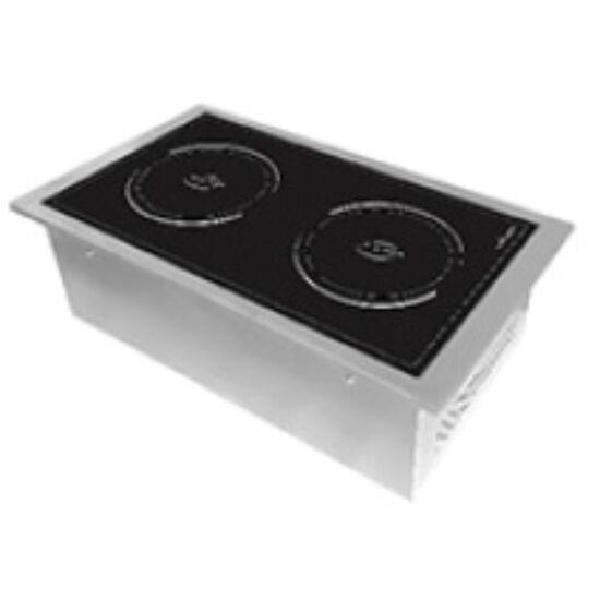 EcoKitchen indukciós üvegkerámia főzőlap két főzőzónával