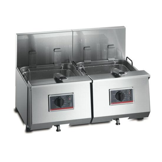 FriFri Profi+ 8+8 asztali olajsütő, 2 kosaras,2 medencés, 2*8-9,5 liter