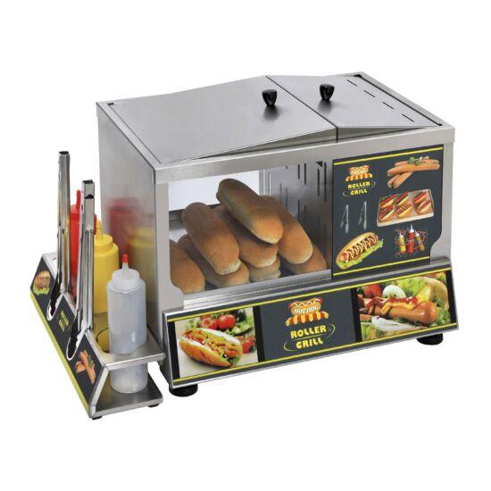 Roller Grill gőzös amerikai hot-dog készítő állomás