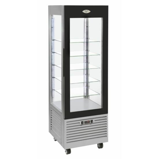 Roller Grill RDN 600 F álló fagyasztós (negatív) hűtővitrin -5/-20°C, 5 üvegpolccal
